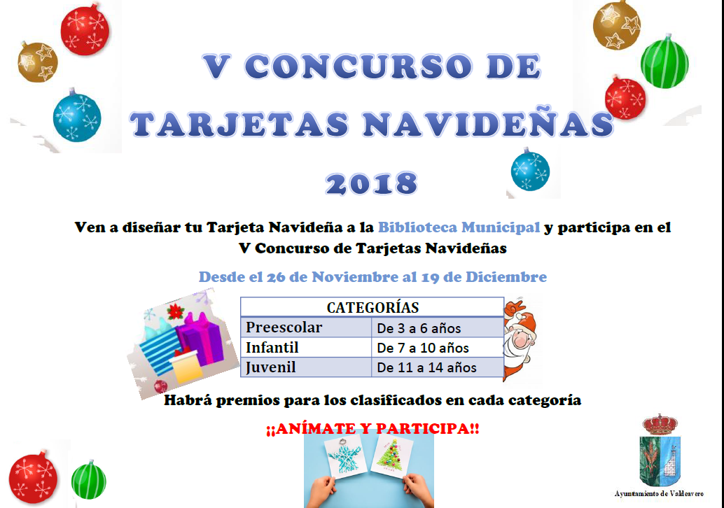 V Concurso Tarjetas Navideñas Ayuntamiento De Valdeavero